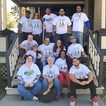HRCC Recovery Walk Participants All Wearing Shirts