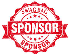Red Swag Bag Sponsor Logo