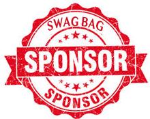 Red Swag Bag Sponsor Logo