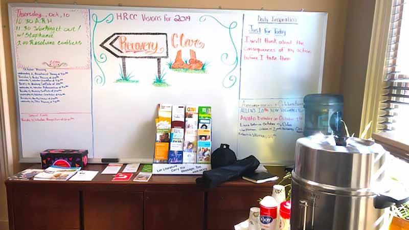 Recovery Community Center White Board