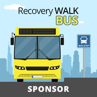 Recovery Walk Bus Sponsor Icon with City Background